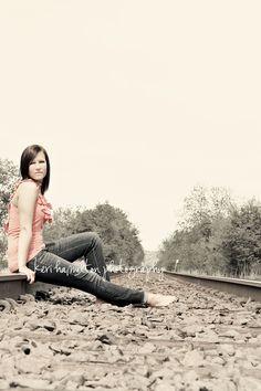 http://kerihamiltonphotography.com  http://www.facebook.com/kerihamiltonphotography #senior #railroad
