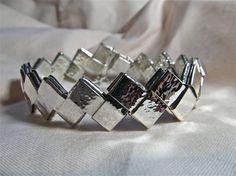 Sterling silver gum wrapper bracelet