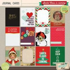 Santa Claus is coming {Journal Cards}
