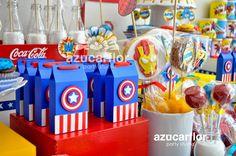 blog sobre fiestas, cumpleaños y celebraciones en general orientado a las mesas de postres y dulces temáticas. 10th Birthday Parties, Baby First Birthday, Birthday Favors, Birthday Party Themes, Captain America Birthday, Girl Superhero Party, Power Ranger Party, Avengers Birthday, Happy Party