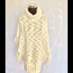 Chico's fringe sweater dress Chico's fringe angora wool sweater dress in creamy white size small. Chico's Dresses