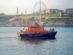 The Plymouth Lifeboat Sybil Mullen Glover passing Plymouth Hoe in October 2011