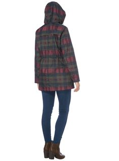 Designed with a shower resistant exterior and a drawstring waist, this checked parka is an essential cold weather staple. Multicoloured check printed parka Checked pattern Hooded Shower resistant Long sleeves Drawstring waist Flap pockets Model's height is 5'11