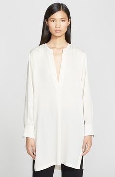 Helmut Lang Stretch Silk V-Neck Tunic available at #Nordstrom