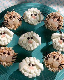 Lion and Lamb cupcakes
