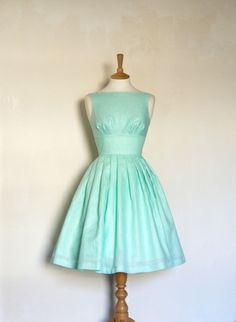 Vert menthe linge tiffany robe de bal de Dig For Victory sur DaWanda.com