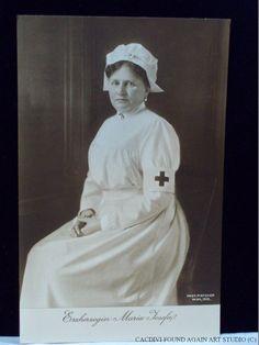 Archduchess Princess Maria Josepha of Austria as a Red Cross Nurse during WWI