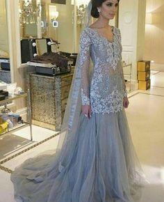 Pakistani Engagement Formal Dress- Elan Inspired Silver Lehenga Choli Bollywood Indian Bridal by KaamdaniCouture on Etsy