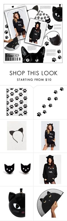 """""""#496 - Feline Fashion"""" by lilmissmegan ❤ liked on Polyvore featuring WALL, Urban Outfitters, STELLA McCARTNEY, Finest Imaginary, WithChic, Lulu Guinness, catstyle and felinefashion"""