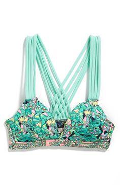 Maaji 'Minty Madness' Reversible Strappy Bikini Top | Nordstrom