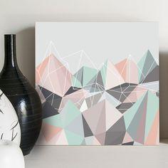 Quadro - Hill of diamonds Pastel - Decohouse