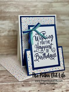 Fancy Fold Cards, Folded Cards, 3d Cards, Easel Cards, Happy Birthday Wishes, Birthday Cards, Stamping Up Cards, Rubber Stamping, Birthday Blast