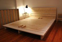 Деревянная кровать из досок своими руками