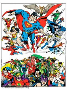 DC Super Heroes (illustrated by Jose Luis Garcia-Lopez; 1979 Poster).