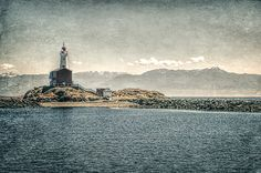 Fisgard Lighthouse, Victoria, B.C., treated with a computer texture program. marilyn-wilson.artistwebsites.com