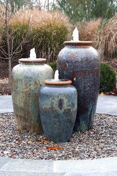 Stunning and creative diy inspirations for backyard garden fountains (40)
