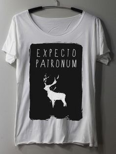 EXPECTO PATRONUM Shirt Harry Potter Shirt Magic Spell Shirts TShirt T Shirt Tee Shirts - Size M L on Etsy, $15.00