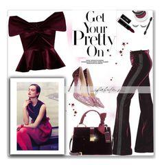 """Pretty in Velvet!"" by prettynposh2 ❤ liked on Polyvore featuring Jimmy Choo, Roberto Cavalli, Emilio De La Morena, Miu Miu, Stella & Dot, shu uemura and velvet"