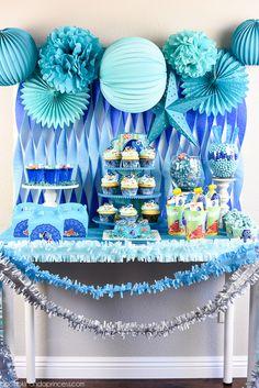 Ideas para decorar fiesta de cumpleaños de buscando a Dory