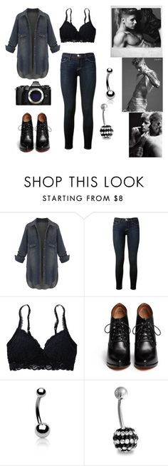 """""""Calvin Klein Look-Alike"""" by myaglynn ❤ liked on Polyvore featuring Frame Denim, Aerie, Givenchy, Bling Jewelry and Olympus"""