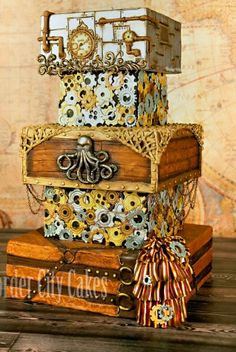 Steampunk cake-Again, my birthday is May 4th!