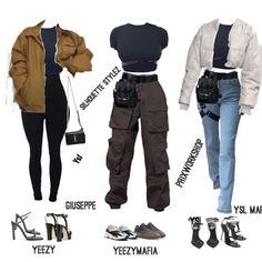 Four new looks style for . Which one are y'all rocking A,B,C D? Cute Swag Outfits, Cute Comfy Outfits, Edgy Outfits, Retro Outfits, Mode Emo, Kleidung Design, Mode Grunge, Jugend Mode Outfits, New Look Fashion