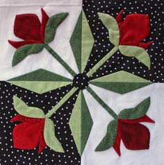 The blocks are finished! Originally from a Quiltmaker's 100 Blocks publication, I tweaked them a bit for hand applique. ...