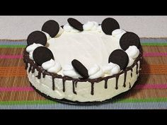 YouTube No Cook Desserts, Kefir, Something Sweet, Oreo, Biscuit, Birthday Cake, Sweets, Make It Yourself, Cooking