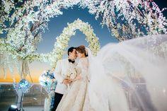 Luxurious Wedding at AYANA Bali with the Bride in Krikor Jabotian