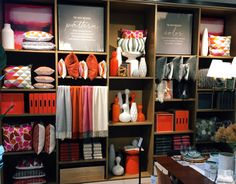 west elm visual merchandising - Google zoeken - this makes my heart happy just to look at. Visual merchandising. VM. Retail store display. Home. Orange