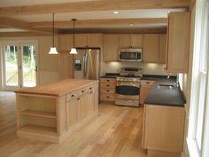 a modular home kitchen.  looks nice!