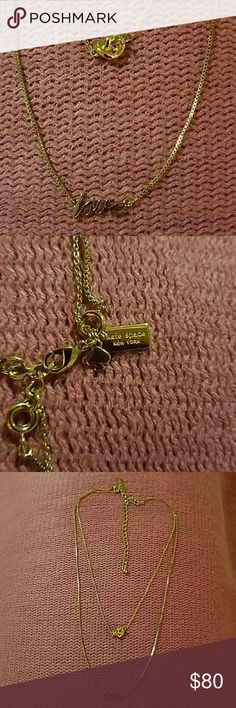 Kate Spade Knote and Love layered necklace Nee without tag. Versatile two pieces that can be worn together or separate. kate spade Jewelry Necklaces
