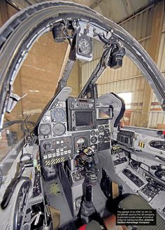 """One of my shots of an ATAC Kfir cockpit. Aircraft Parts, Fighter Aircraft, Fighter Jets, Iai Kfir, Helicopter Cockpit, Ejection Seat, Army Life, Military Jets, Flight Deck"