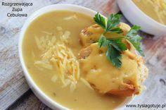 Zupa cebulowa z grzankami serowymi My Favorite Food, Favorite Recipes, Polish Recipes, Polish Food, Special Recipes, Thai Red Curry, Recipies, Clean Eating, Spices