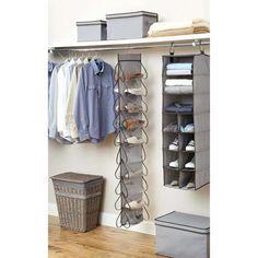 Better Homes And Gardens 20 Pocket Closet Organizer, Grey