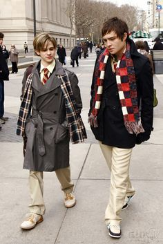 """Ed Westwick as Chuck Bass and Connor Paolo as Eric van der Woodsen """"The Blair Bitch Project"""""""