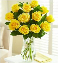 Top 10 Most Beautiful Yellow Roses  Long Stem Yellow Roses:  When you gift someone a bunch of Long Stem Yellow Roses you gift them a tuft of sunshine too. Warm, inviting and cheerful, these are the perfect roses for a bouquet.