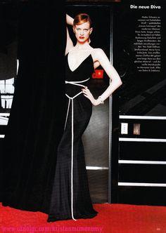 "Vogue Germany March 1995 ""Die Neue Diva"" Model: Kristen McMenamy Photographer: Max Vadukul"