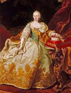 Maria Theresia Archduchess of Austria, Queen of Hungary, Queen of Bohemia, Grand Duchess of Tuscany and a Holy Roman Empress European History, Art History, Rococo Fashion, Royal Fashion, Vintage Fashion, Maria Teresa, National Gallery, Francis I, Holy Roman Empire