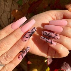 42 Chic Acrylic Coffin Nails Art Designs And Ideas In 2020 - We believe that good nail art will make you beautiful and confident. We hope you love our carefully assembled 42 chic coffin nails ideas and are ready to experiment with your coffin nails ideas. Best Acrylic Nails, Summer Acrylic Nails, Summer Nails, Pastel Nails, Acrylic Art, Butterfly Nail Designs, Nail Art Designs, Nails Design, Nail Swag