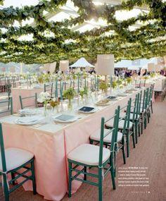 "homey-multi-blue-colored-wedding.jpg (500×604) *Love the ""trellis"" overhead interesting"