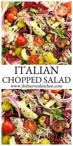 Italian Salad Recipes, Italian Chopped Salad, Chopped Salad Recipes, Summer Salad Recipes, Healthy Salad Recipes, Summer Salads, Chopped Salads, Healthy Dinners, Cookout Side Dishes
