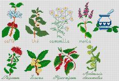 haft krzyżykowy wzory zioła - Szukaj w Google