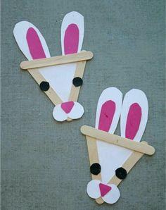 Diy Craft Ideas Using Ice Cream Sticks Popsicle Stick Bunny Kid . Diy Craft Ideas Using Ice Cream Sticks Popsicle Stick Bunny Kid craft stick kids diy - Kids Crafts Spring Crafts For Kids, Bunny Crafts, Daycare Crafts, Easter Crafts For Kids, Toddler Crafts, Preschool Crafts, Kids Diy, Easter Crafts For Preschoolers, Easter Stuff