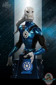 Heroes of the DC Universe: Blackest Night Blue Lantern Saint Walker Bust by Dc Direct Comic Book Characters, Comic Character, Blue Lantern Corps, Dc Comics Action Figures, Video Game Costumes, Dc World, Story Arc, Dc Heroes, Dark Night
