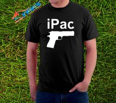 New Funny iPac Gun Pistol 9mm 2nd amendment Sig ak47 ar15 Mens T-Shirt