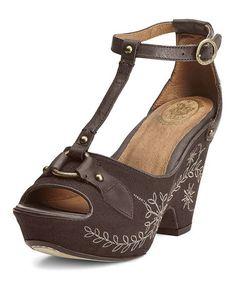 Cafe Vista Leather Platform Sandal by Ariat #zulily #zulilyfinds