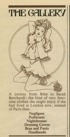 The Biba newspaper was designed by Steve Thomas in the late summer of 1973 (newspaper 6)