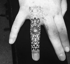 Stunning Ring Finger Tattoo