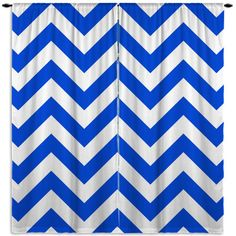 Royal Blue Chevron Window Curtains, from Mod to Mediterranean.
